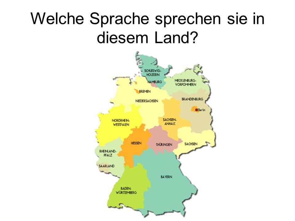 Welche Sprache sprechen sie in diesem Land?
