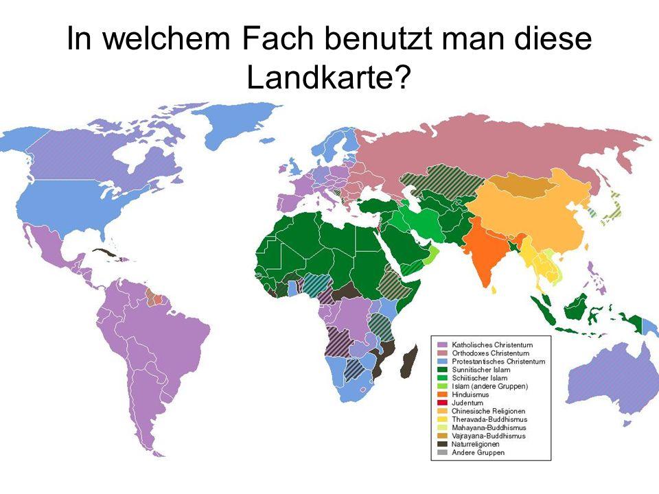 In welchem Fach benutzt man diese Landkarte?