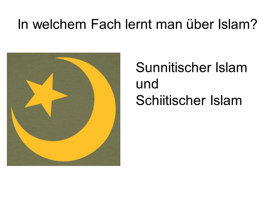 In welchem Fach lernt man über Islam? Sunnitischer Islam und Schiitischer Islam