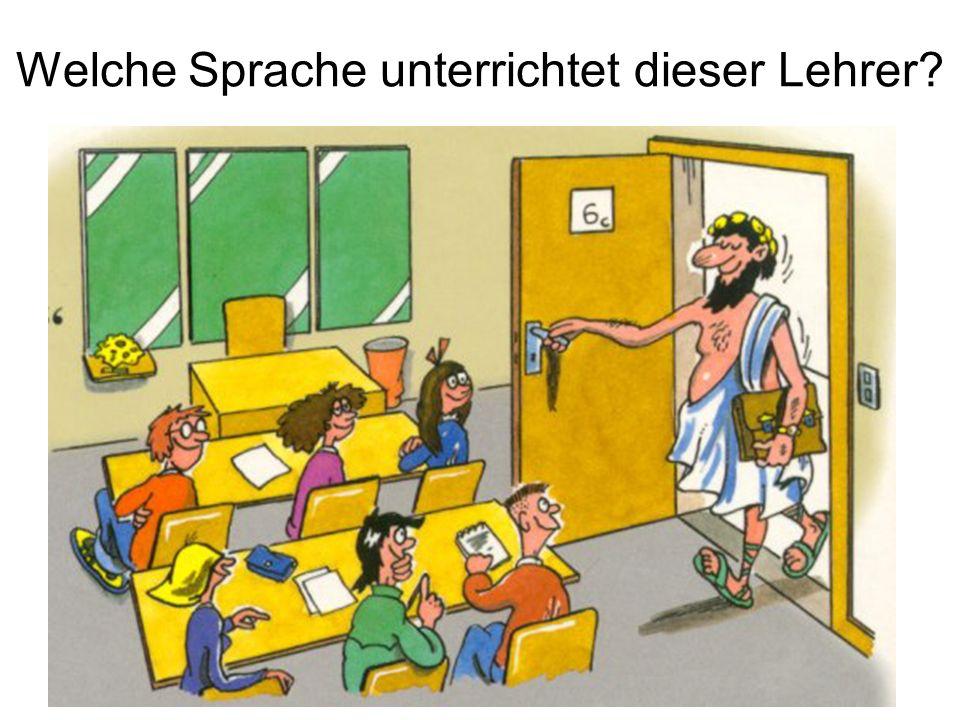 Welche Sprache unterrichtet dieser Lehrer?