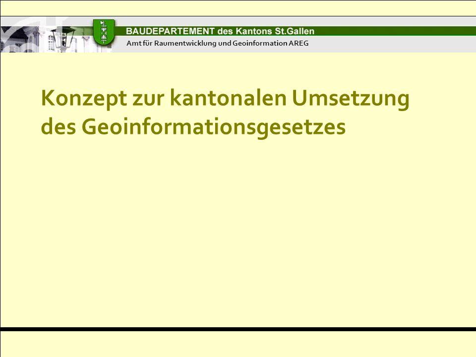 Konzept zur kantonalen Umsetzung des Geoinformationsgesetzes Amt für Raumentwicklung und Geoinformation AREG
