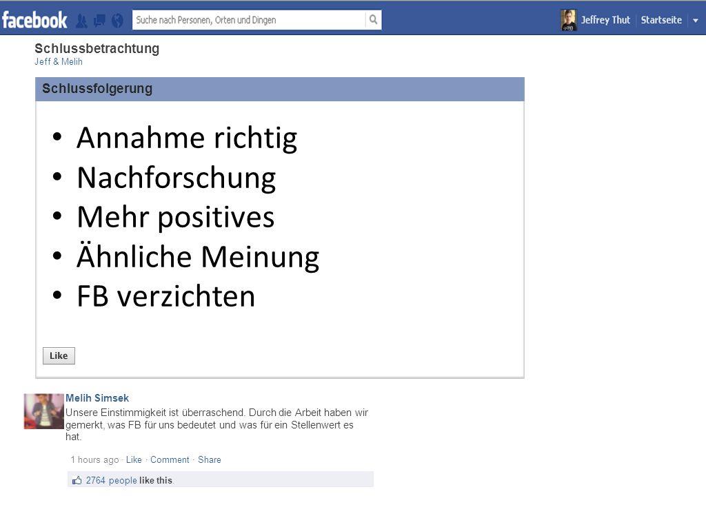 Facebook-Connecting People Vielen Dank