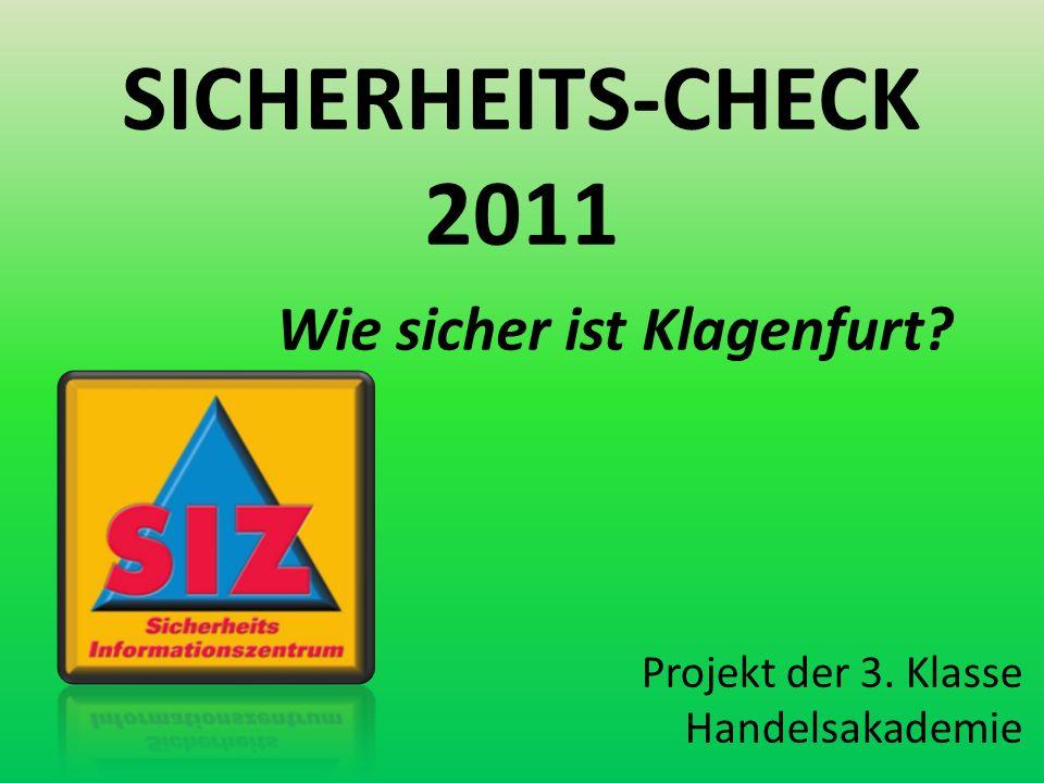 SICHERHEITS-CHECK 2011 Wie sicher ist Klagenfurt Projekt der 3. Klasse Handelsakademie