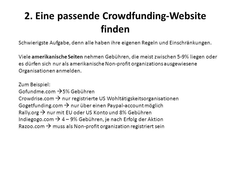 Daneben gibt es viele Crowdfunding-Plattformen, die sich nur der Unterstützung künstlerischer Projekte oder dem Startup von Unternehmen widmen.