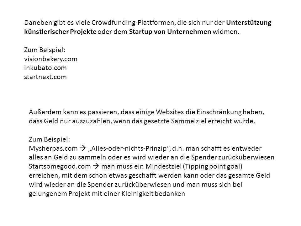 Eine gute Seite ist zum Beispiel: Betterplace.org Sie ist deutsch, kostenlos und sehr einfach zu bedienen.