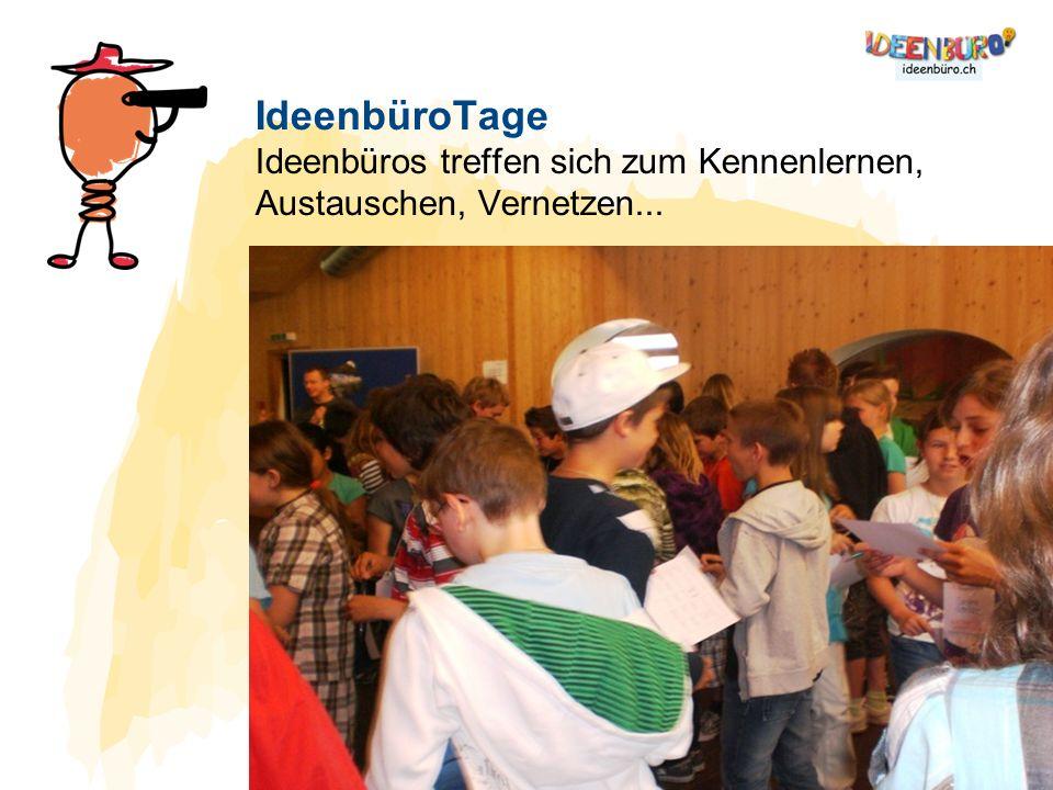 IdeenbüroTage Ideenbüros treffen sich zum Kennenlernen, Austauschen, Vernetzen...
