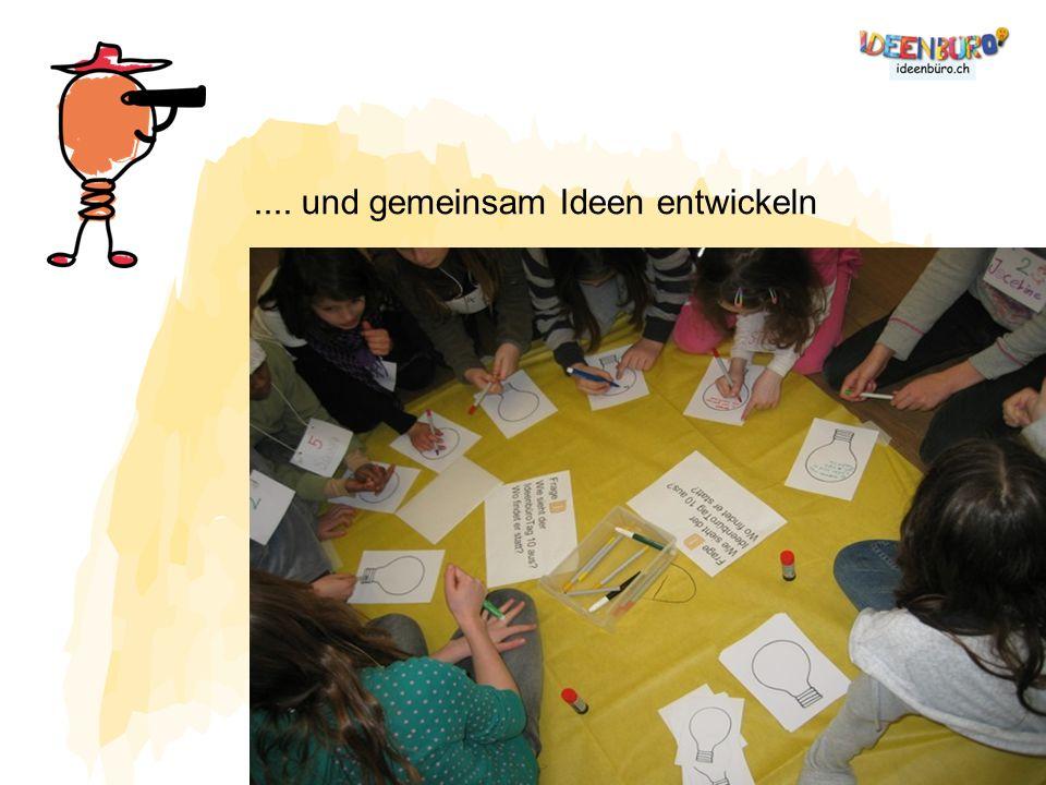 .... und gemeinsam Ideen entwickeln