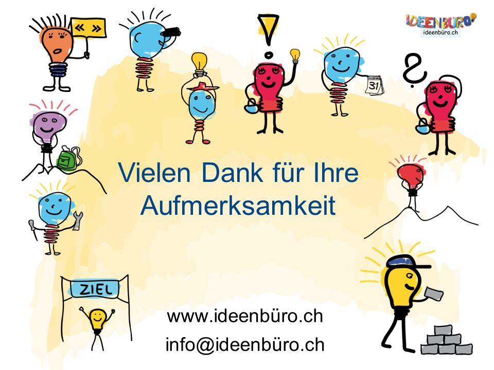 www.ideenbüro.ch info@ideenbüro.ch Vielen Dank für Ihre Aufmerksamkeit