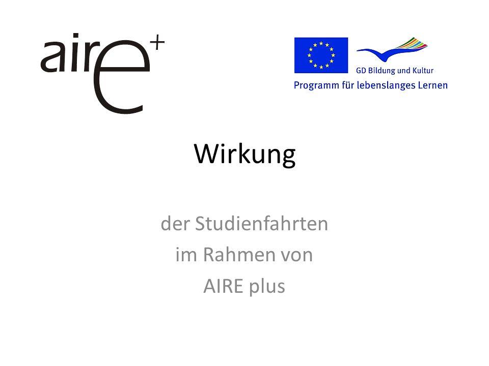 Wirkung der Studienfahrten im Rahmen von AIRE plus