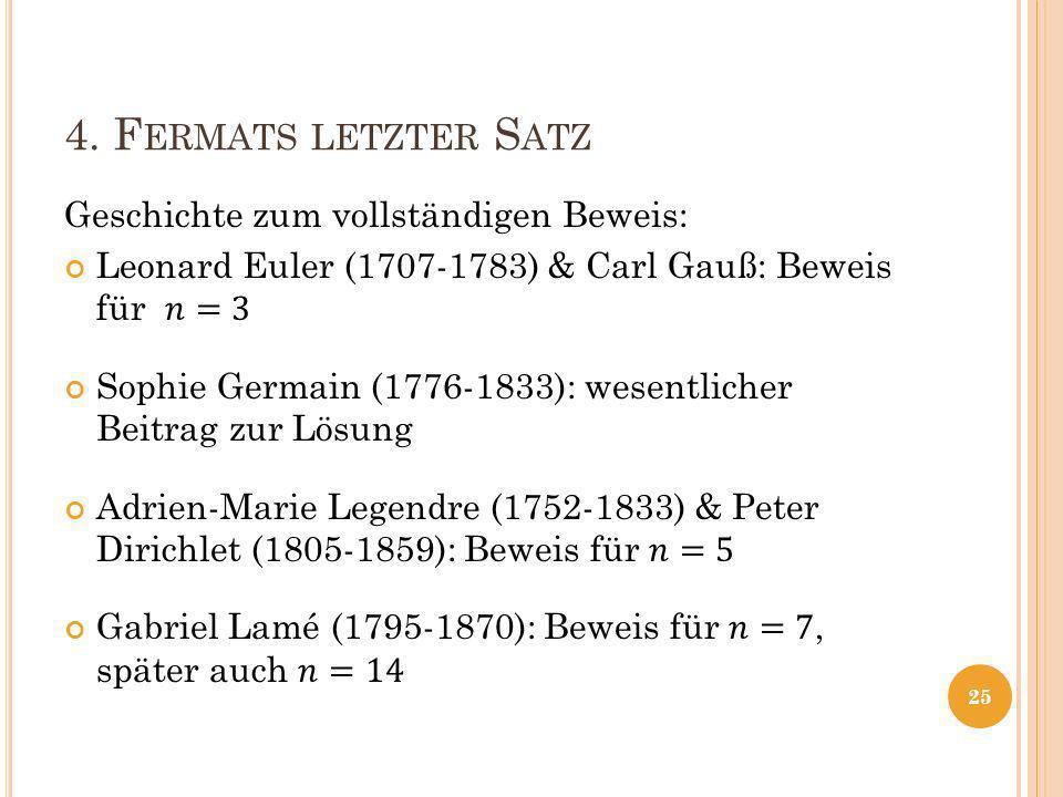 4. F ERMATS LETZTER S ATZ 25