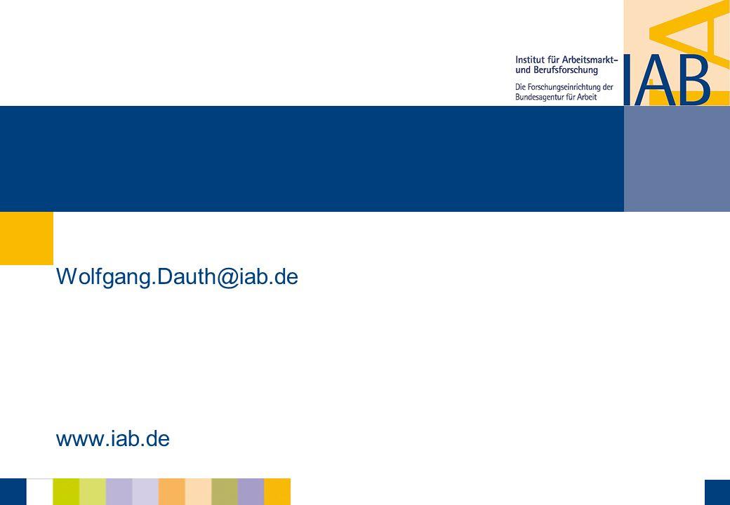 Wolfgang.Dauth@iab.de www.iab.de