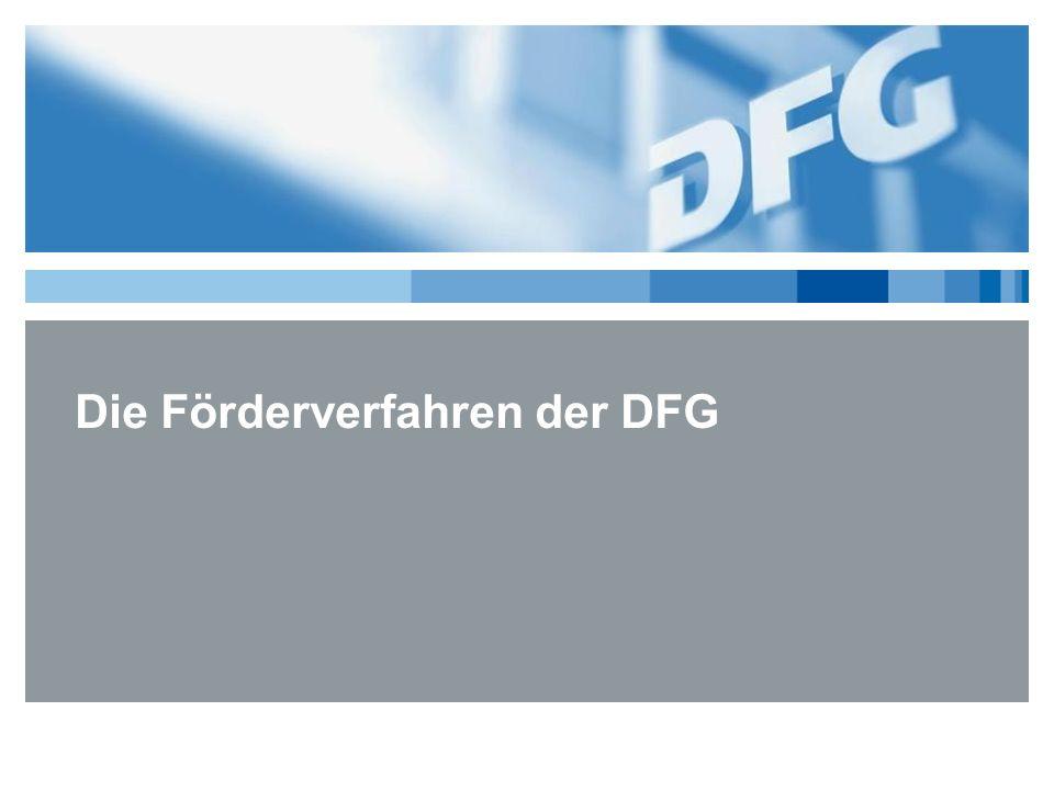 Die Förderverfahren der DFG