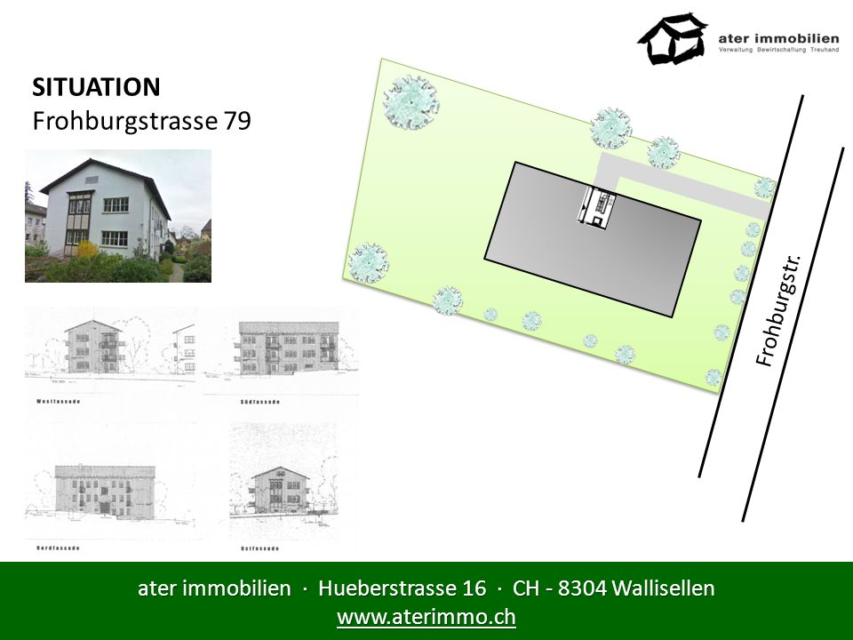 ater immobilien · Hueberstrasse 16 · CH - 8304 Wallisellen www.aterimmo.ch SITUATION Frohburgstrasse 79 Frohburgstr.