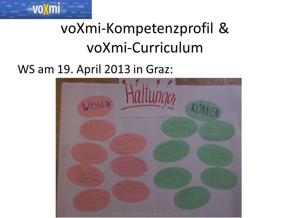 voXmi-Kompetenzprofil & voXmi-Curriculum WS am 19.
