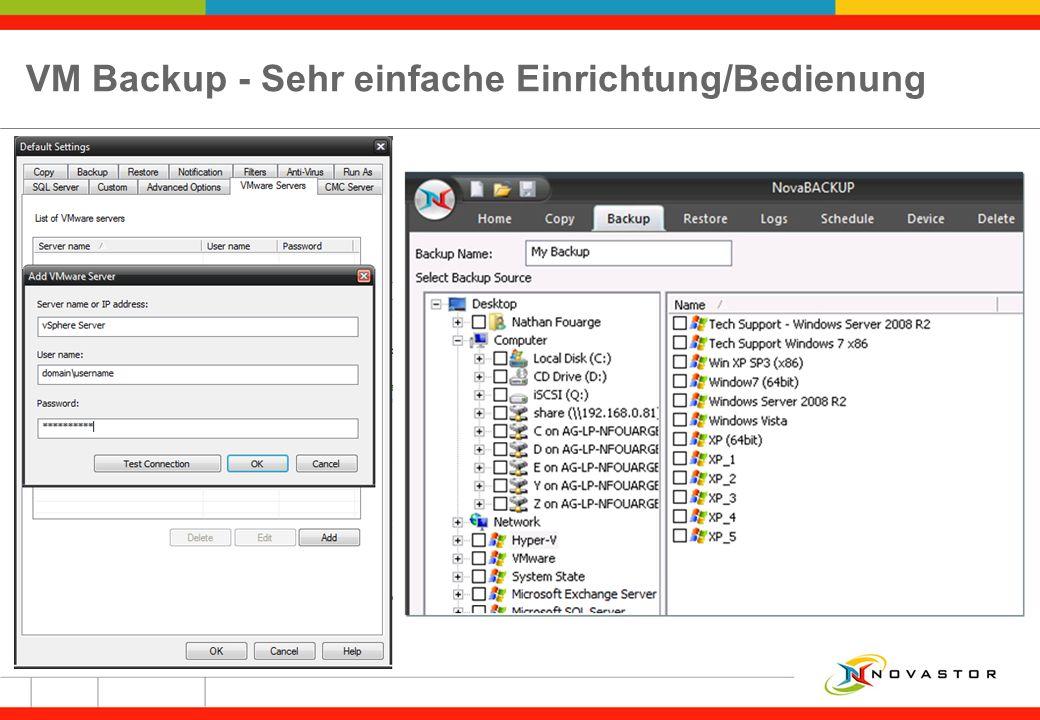 VM Backup - Sehr einfache Einrichtung/Bedienung