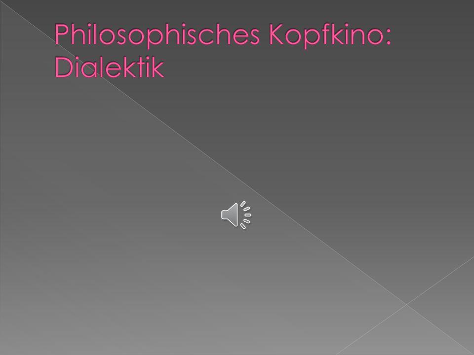 1. Einleitung und das Philosophische Kopfkino über die Dialektik 2. Thesen zur Dialektik 3. Definition und Beschreibung der Dialektik 4. Idealismus un