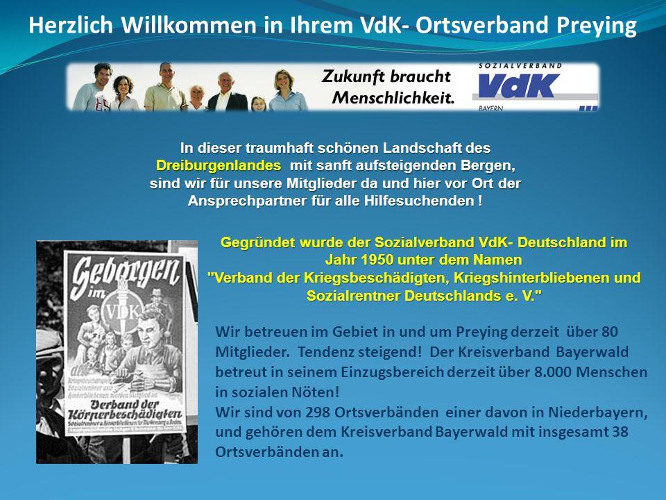65 Jahre VdK und Ortsverband Preying.