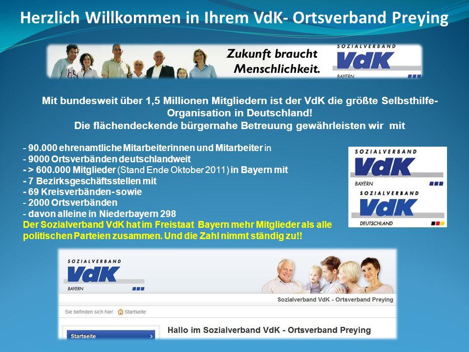 Mit bundesweit über 1,5 Millionen Mitgliedern ist der VdK die größte Selbsthilfe- Organisation in Deutschland! Die flächendeckende bürgernahe Betreuun