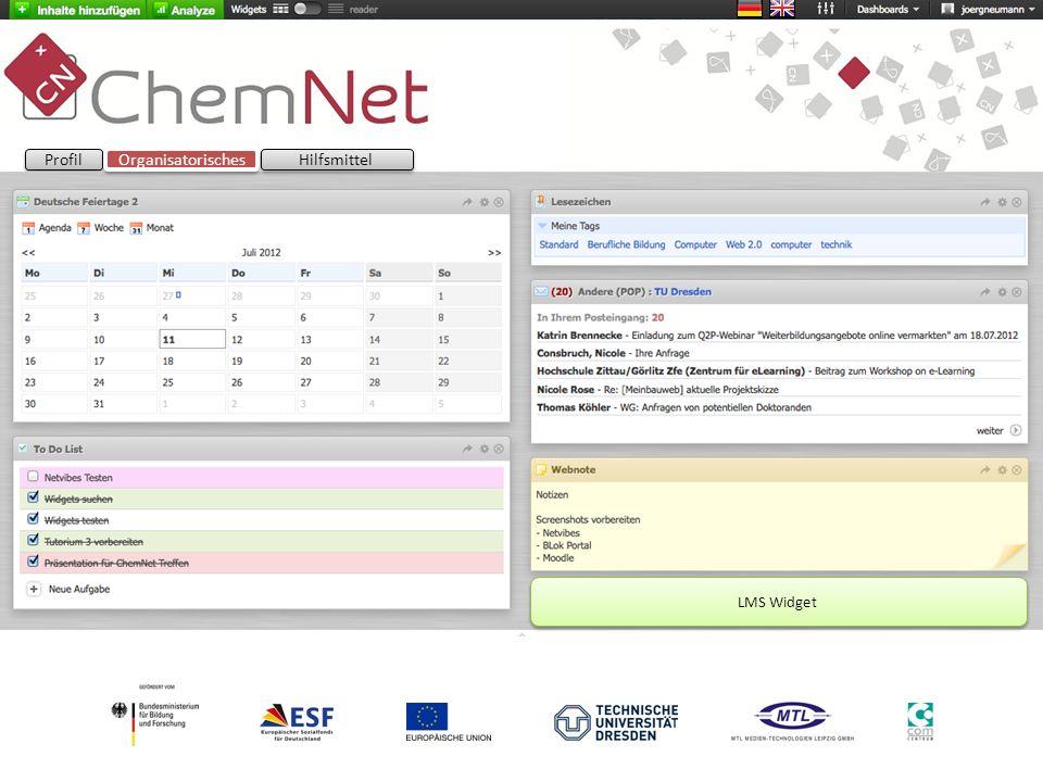 Profil Organisatorisches Hilfsmittel LMS Widget