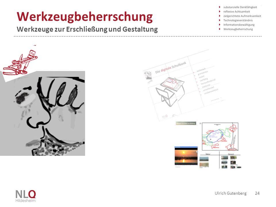 Werkzeugbeherrschung Werkzeuge zur Erschließung und Gestaltung Ulrich Gutenberg 24