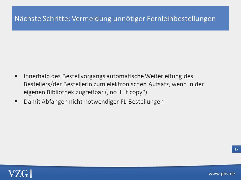 Fall1: In Lieferbibliothek nur Printausgabe vorhanden bzw. verfügbar (Lizenzinformationen nicht nachgewiesen) Fall 2: In Lieferbibliothek nur elektron