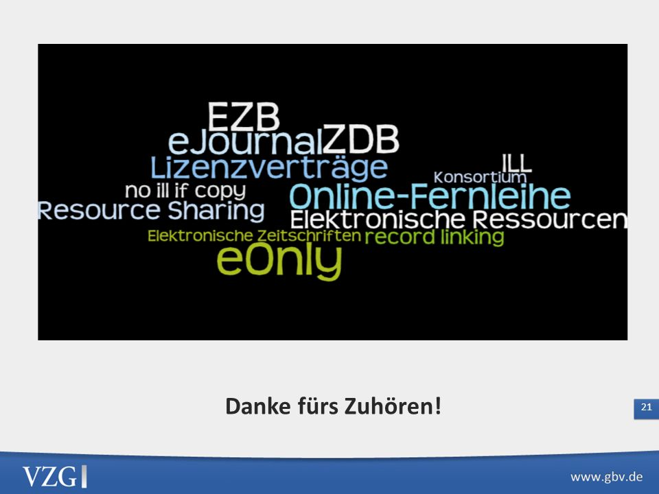 Empfehlungen der AG Leihverkehr zur Einbeziehung elektronischer Zeitschriften in den Leihverkehr Bibliotheksverbünde, EZB und ZDB haben die technische