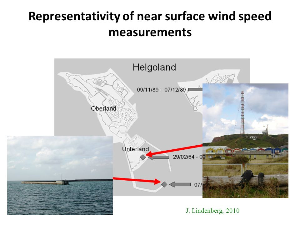 Representativity of near surface wind speed measurements J. Lindenberg, 2010