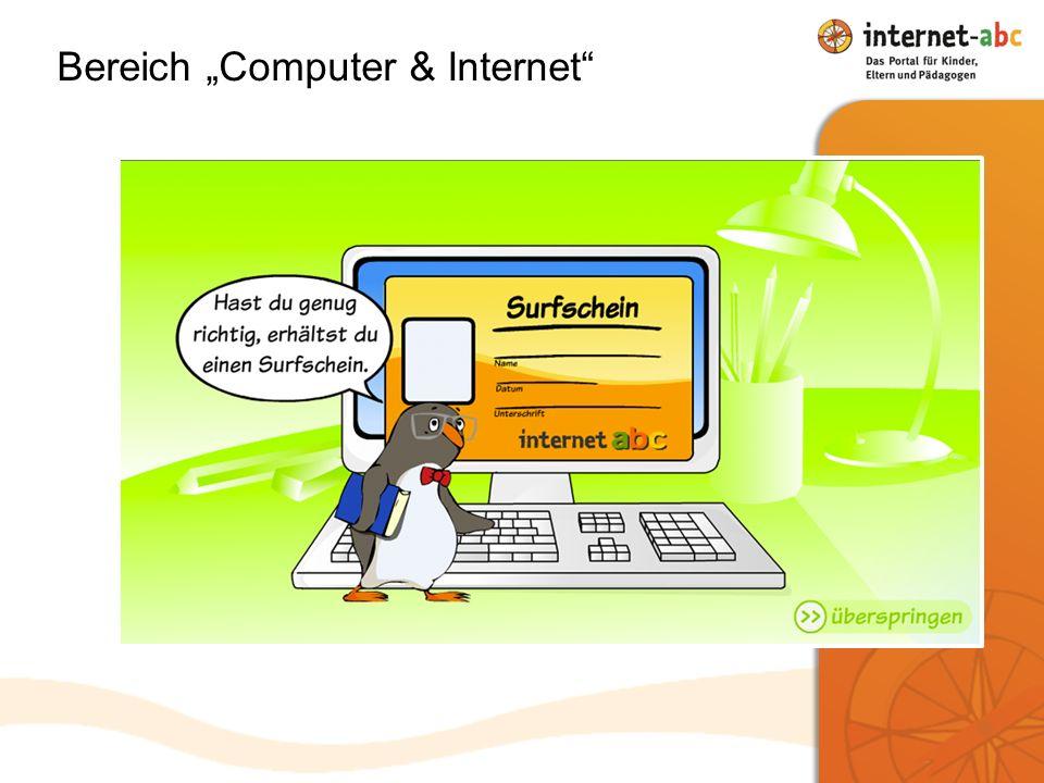 Bereich Computer & Internet