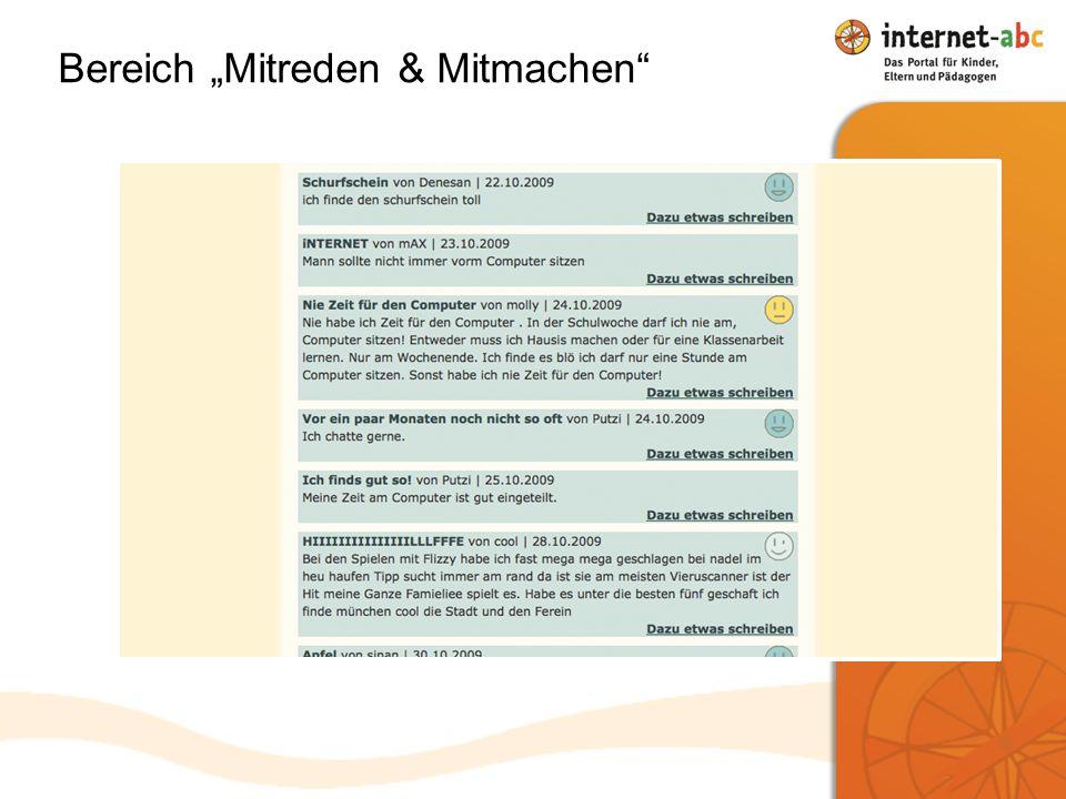 Bereich Mitreden & Mitmachen