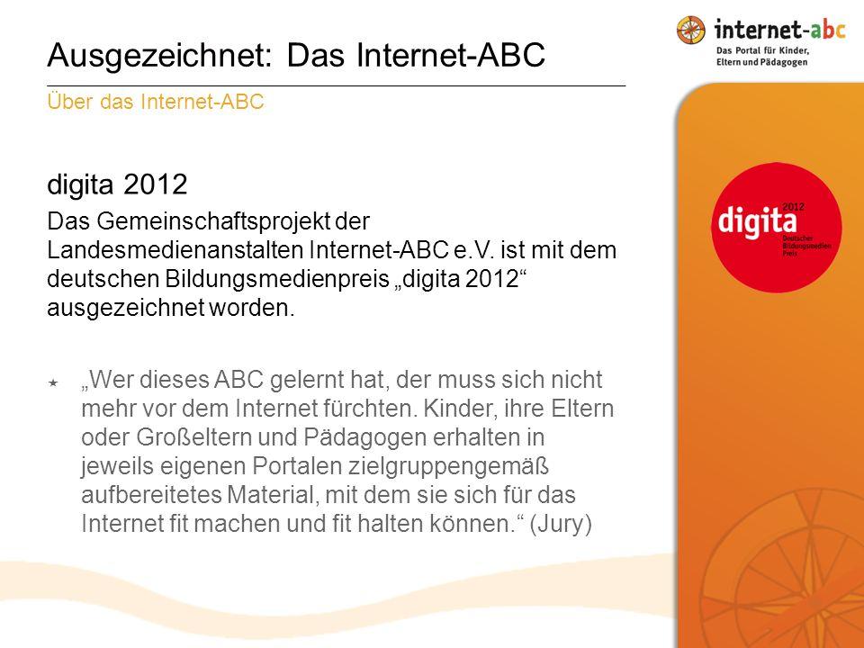 digita 2012 Das Gemeinschaftsprojekt der Landesmedienanstalten Internet-ABC e.V.