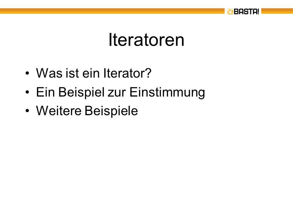 Iteratoren - Was ist ein Interator.