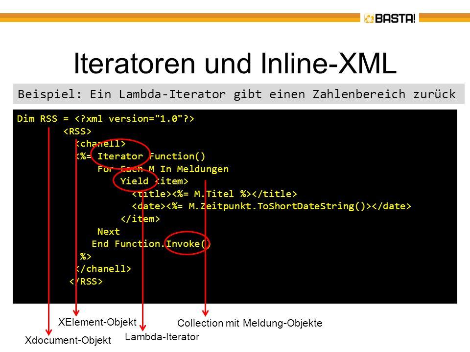 Iteratoren – Weitere Beispiele Implementierung einer einfachen State- Machine Durchlaufen eines Baums