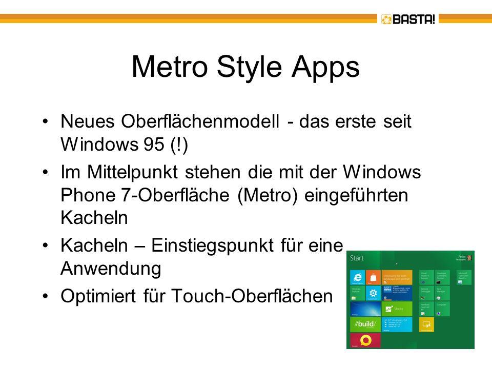 Die Rolle von Visual Basic Windows 8 enthält die.NET 4.5-Laufzeit Entwickelt wird mit VS 11 bzw.