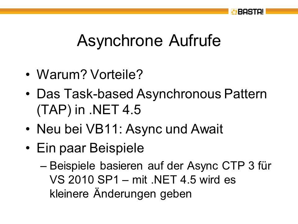 Asynchrone Aufrufe – warum.