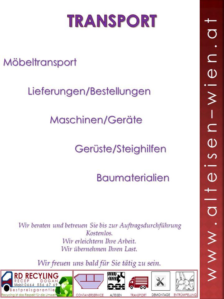 Möbeltransport Lieferungen/Bestellungen Lieferungen/Bestellungen Maschinen/Geräte Maschinen/Geräte Gerüste/Steighilfen Gerüste/Steighilfen Baumaterial