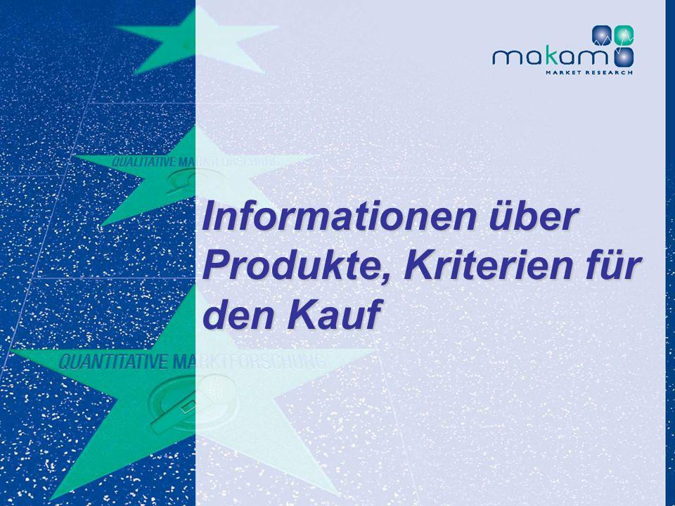 Auf Fakten setzen, auf Menschen zählen KonsumentInnen-Barometer April 2013 Auf Fakten setzen, auf Menschen zählen Seite 106 Informationen über Produkt