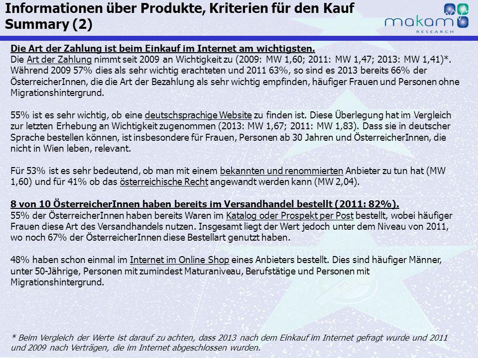 Auf Fakten setzen, auf Menschen zählen KonsumentInnen-Barometer April 2013 Auf Fakten setzen, auf Menschen zählen Seite 108 Die Art der Zahlung ist be