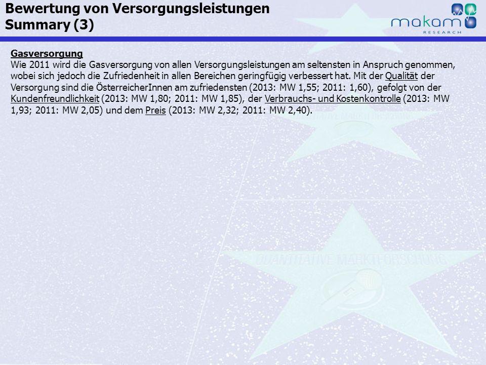 Auf Fakten setzen, auf Menschen zählen KonsumentInnen-Barometer April 2013 Auf Fakten setzen, auf Menschen zählen Seite 131 Gasversorgung Wie 2011 wir