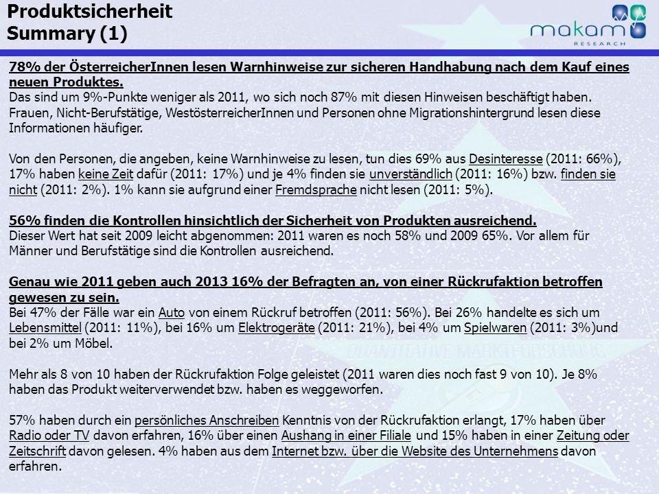 Auf Fakten setzen, auf Menschen zählen KonsumentInnen-Barometer April 2013 Auf Fakten setzen, auf Menschen zählen Seite 168 78% der ÖsterreicherInnen