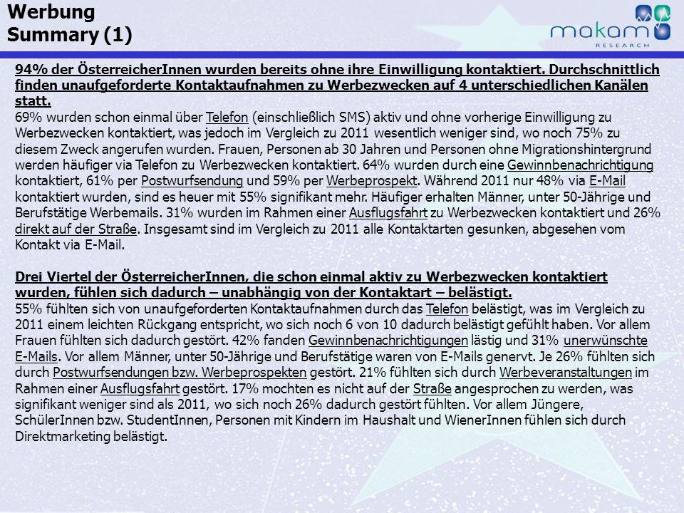 Auf Fakten setzen, auf Menschen zählen KonsumentInnen-Barometer April 2013 Auf Fakten setzen, auf Menschen zählen Seite 184 94% der ÖsterreicherInnen