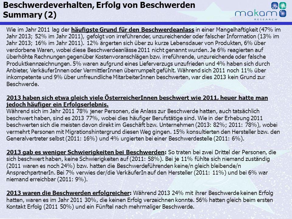Auf Fakten setzen, auf Menschen zählen KonsumentInnen-Barometer April 2013 Auf Fakten setzen, auf Menschen zählen Seite 39 Wie im Jahr 2011 lag der hä