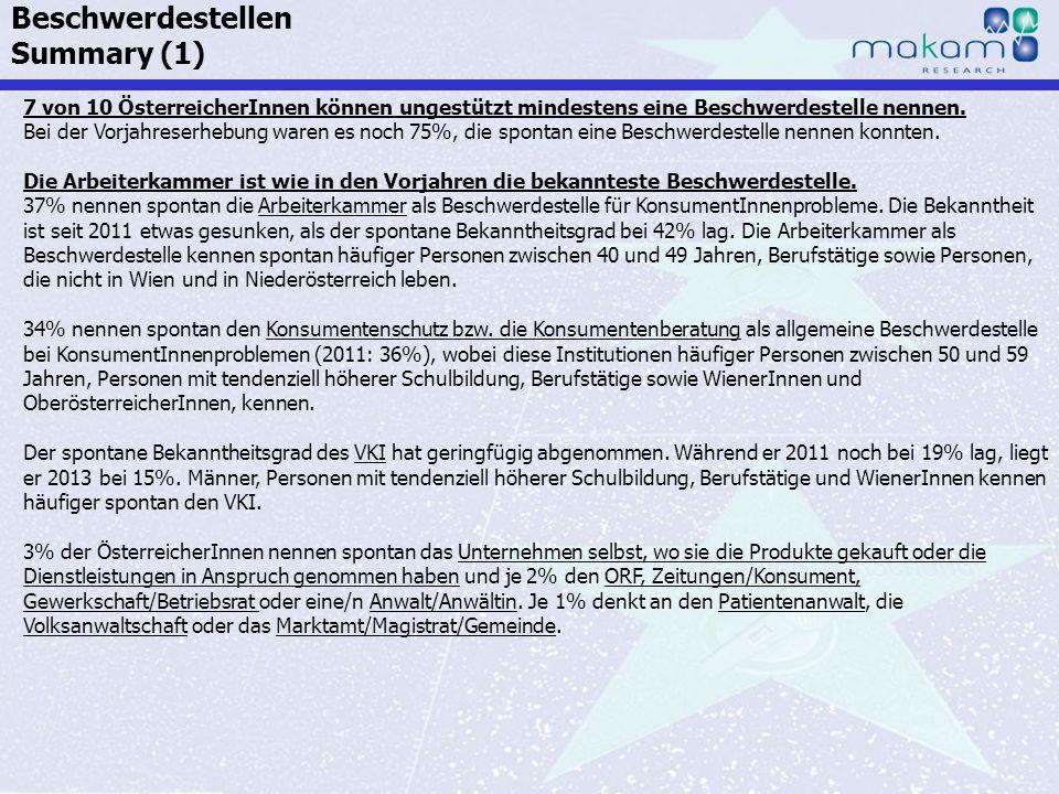 Auf Fakten setzen, auf Menschen zählen KonsumentInnen-Barometer April 2013 Auf Fakten setzen, auf Menschen zählen Seite 75 7 von 10 ÖsterreicherInnen