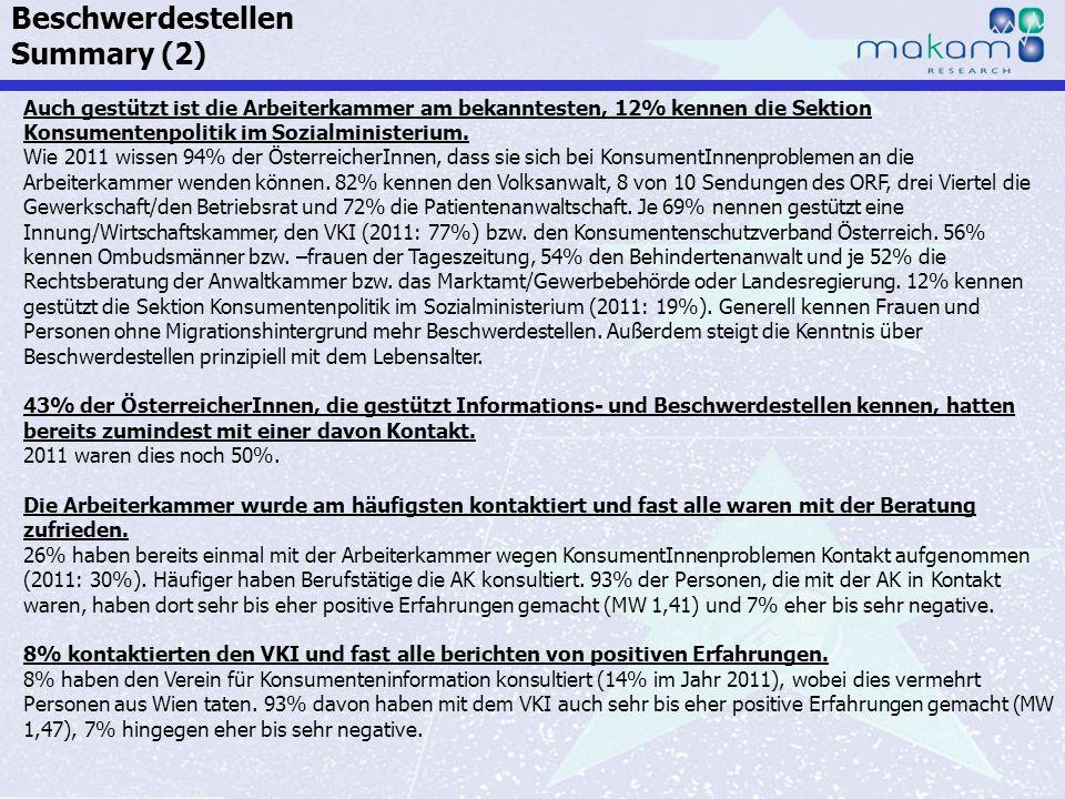 Auf Fakten setzen, auf Menschen zählen KonsumentInnen-Barometer April 2013 Auf Fakten setzen, auf Menschen zählen Seite 76 Auch gestützt ist die Arbei