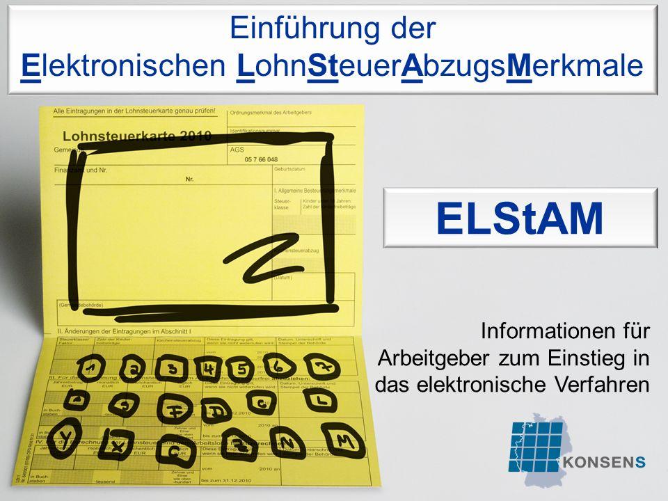 Folie 2 Inhalte 1.Das ELStAM-Verfahren 3. Informationsquellen und Musteranschreiben 2.