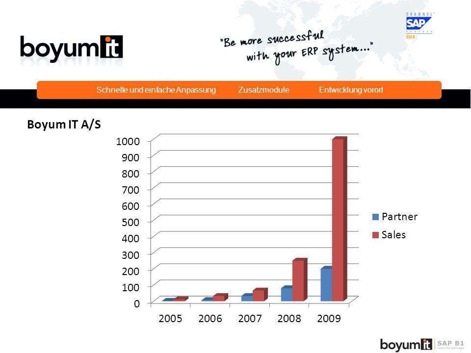 Schnelle und einfache Anpassung Zusatzmodule Entwicklung vorort Boyum IT A/S