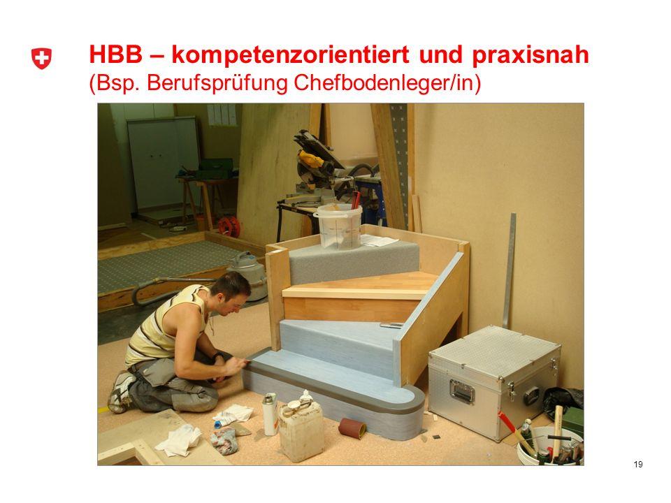 HBB – kompetenzorientiert und praxisnah (Bsp. Berufsprüfung Chefbodenleger/in) 19