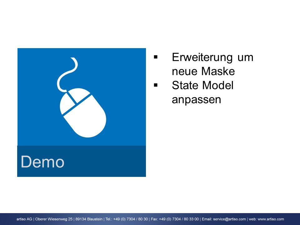 Demo Erweiterung um neue Maske State Model anpassen