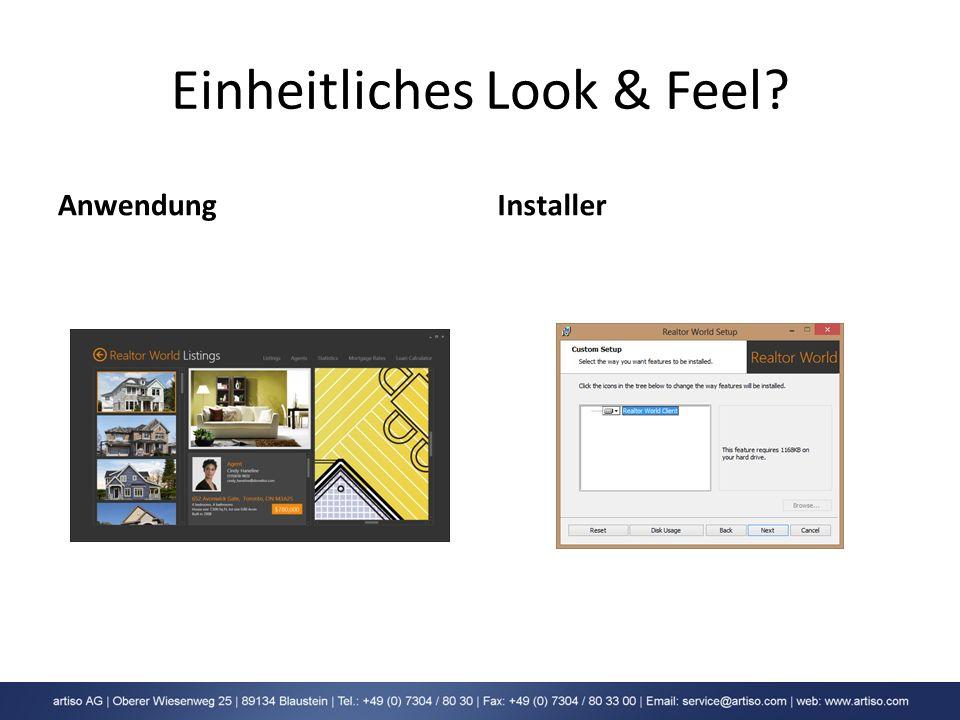 Einheitliches Look & Feel? AnwendungInstaller