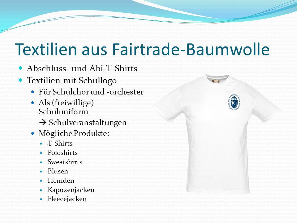 Textilien aus Fairtrade-Baumwolle Abschluss- und Abi-T-Shirts Textilien mit Schullogo Für Schulchor und -orchester Als (freiwillige) Schuluniform Schu