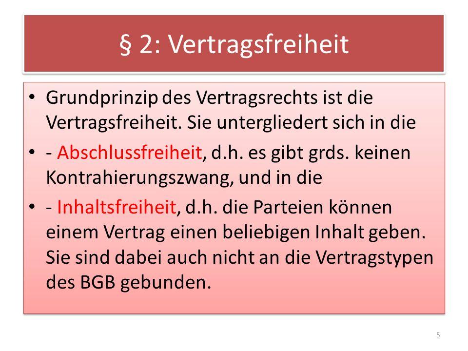 § 8: Mängelrechte/Verjährung Die Verjährung nach § 438 wird objektiv berechnet, während die allg.